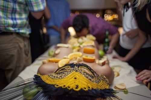 Live Body Table Dessert Girl