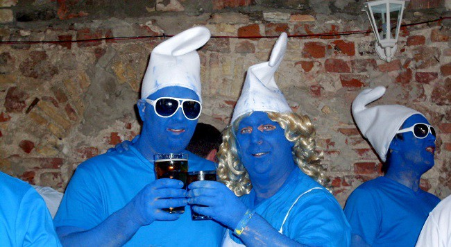 Stag do costumes - Smurfs