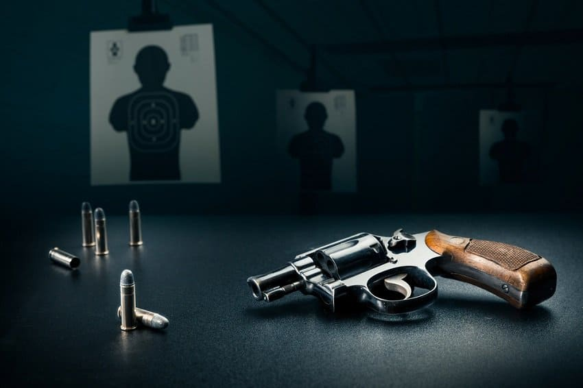 Pistol Shooting with 5 Guns