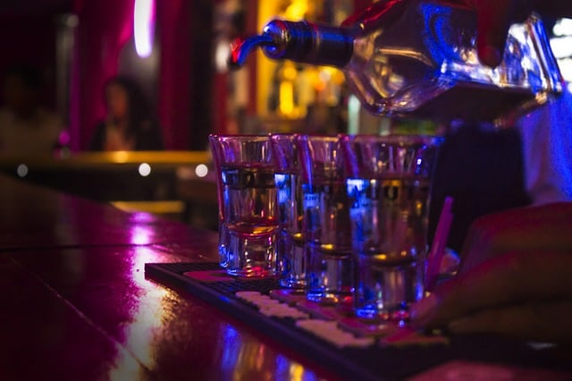 Tequila Show at Strip Club